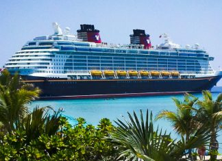 Docked Disney Cruise Ship