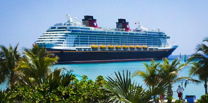 Docked Disney Cruise Ship