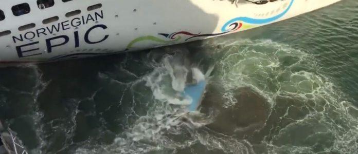 Norwegian Epic Strikes Pier in San Juan