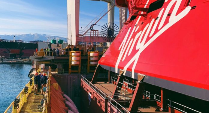 First Cruise Ship from Virgin Voyages Floats Out