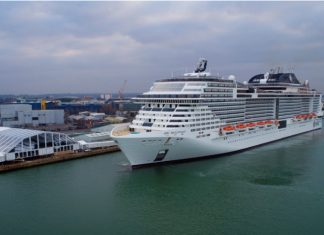 MSC Bellissima at Southampton