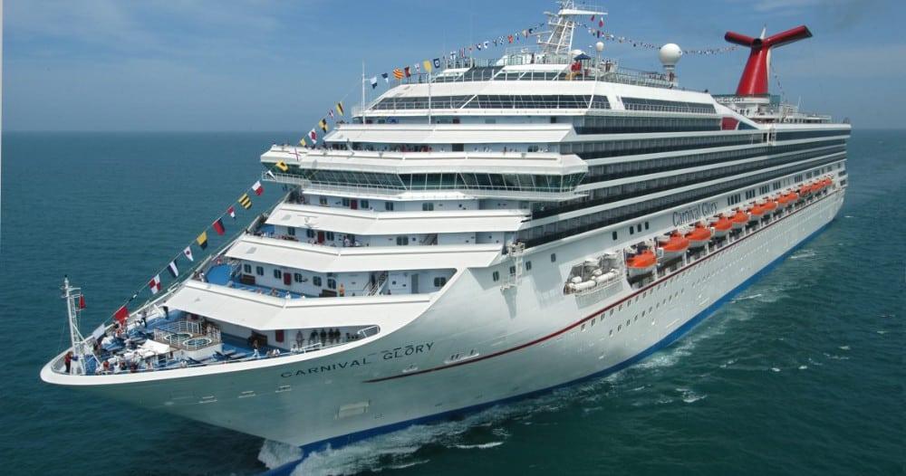Carnival Glory Cruise Ship at Sea