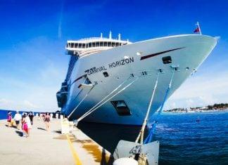 Carnival Horizon Docked in Grand Turk