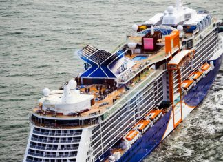 Celebrity Edge Cruise Ship Departing