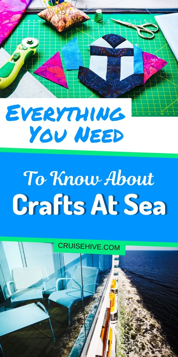A guide on doing arts and crafts on a cruise ship including activities for kids and adults such as sewing, painting and cross stitching. What you might expect for these type DIY projects.