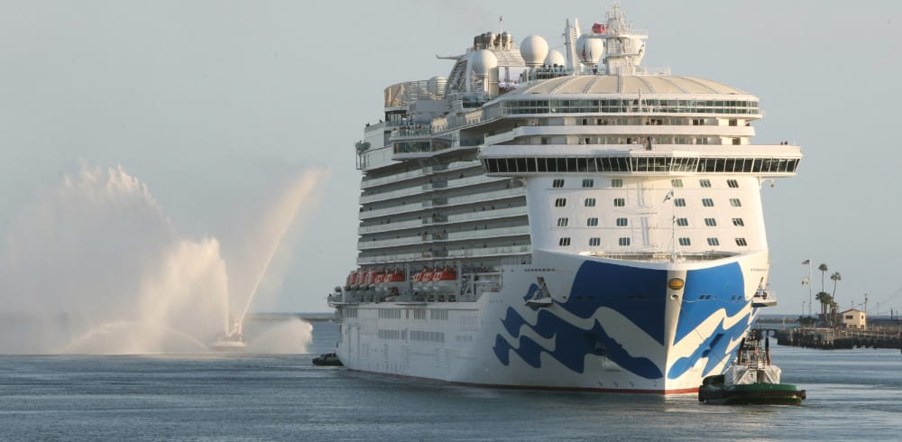 Royal Princess Arrives at Port of Los Angeles