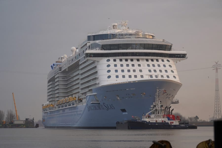 Spectrum of the Seas Begins Conveyance