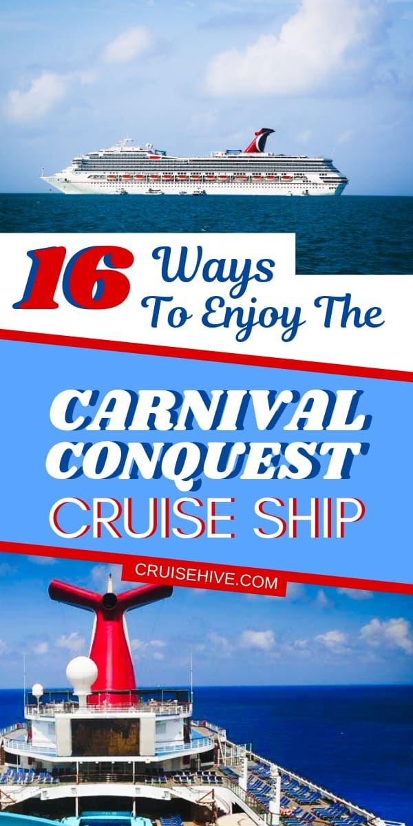 Find out all these ways to enjoy the Carnival Conquest cruise ship which is operated by Carnival Cruise Line. Including cruise tips and things to do onboard for a vacation at sea.