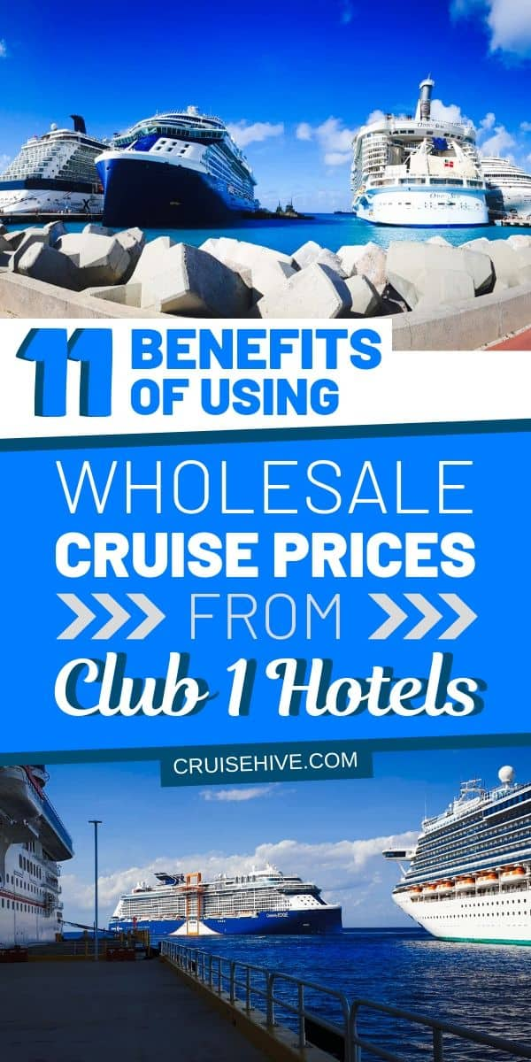 Time to find out about the benefits of wholesale cruise prices with Club 1 Hotels. Ways to save money and the deals to make to make sure you have the best vacation at sea.