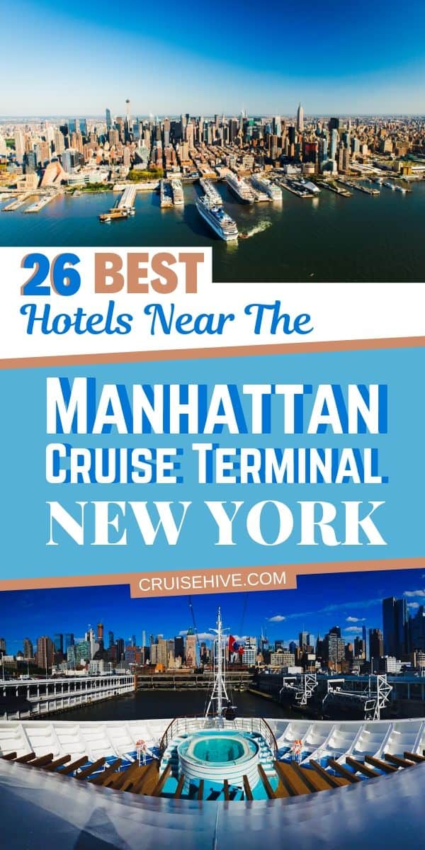 Read on for our guide on the best hotels near the Manhattan cruise terminal in New York City. Distance from the port and prices included to help you prepare for your cruise vacation from the Big Apple.