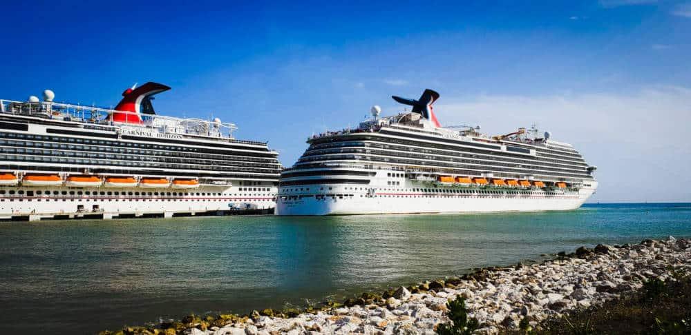 Carnival Cruise Line Ships in Port