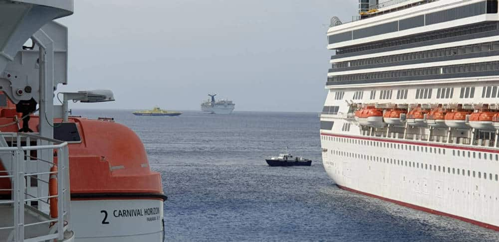 Carnival Cruise Ships Docked in Cozumel