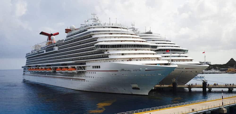 Docked Carnival Cruise Ships
