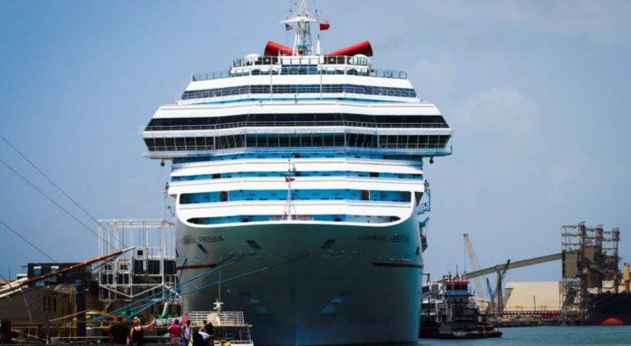 Carnival Cruise Ship Docked in Galveston