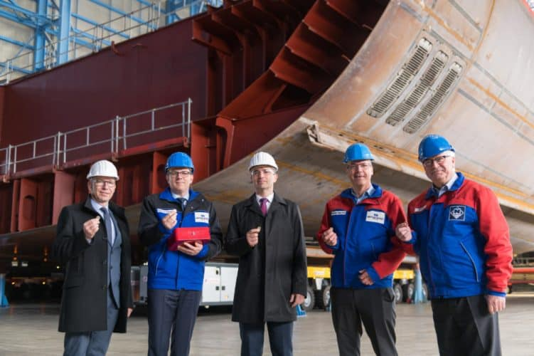 Odyssey of the Seas keel laying