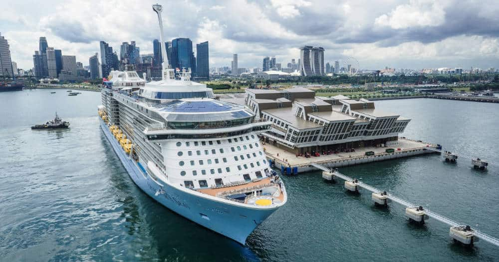 Quantum of the Seas at Marina Bay Cruise Centre Singapore