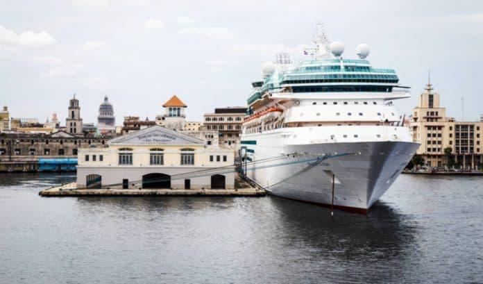 Royal Caribbean Cruise Ship in Cuba