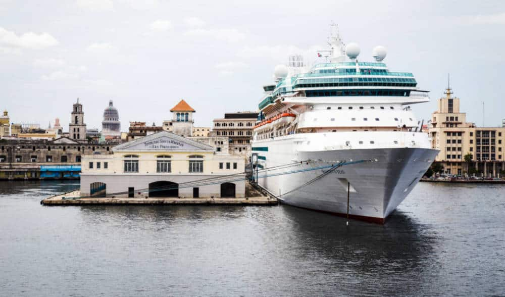 Royal Caribbean Cruise Ship in Cuba