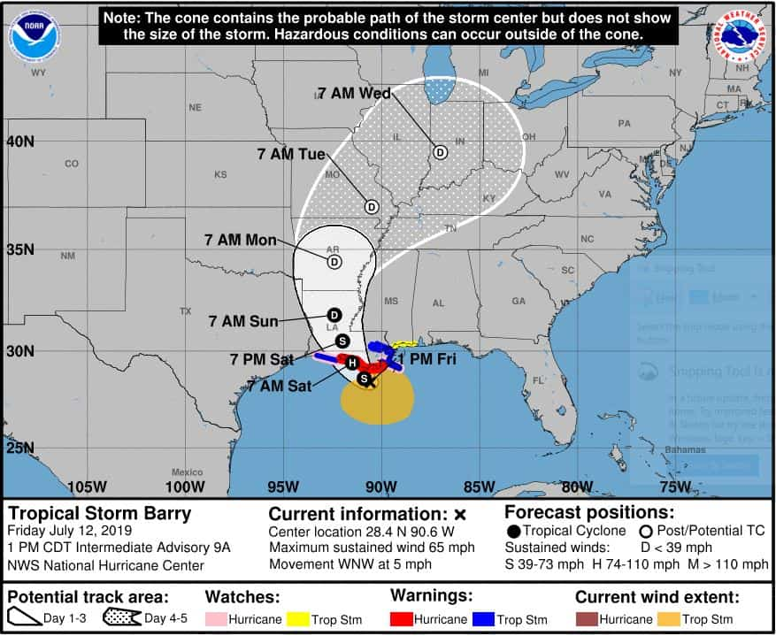 Carnival Cruise Line Issues Update On Tropical Storm Barry
