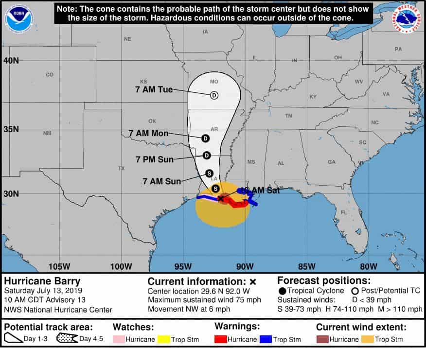 Tropical Storm Barry Impacts Multiple Carnival Cruise Line ...