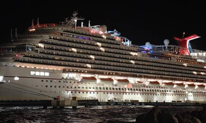 Vista Class Cruise Ship at Night
