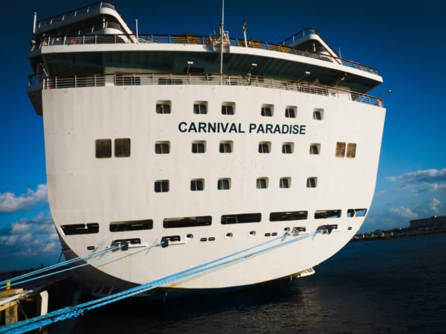 Carnival Paradise Cruise Ship Aft