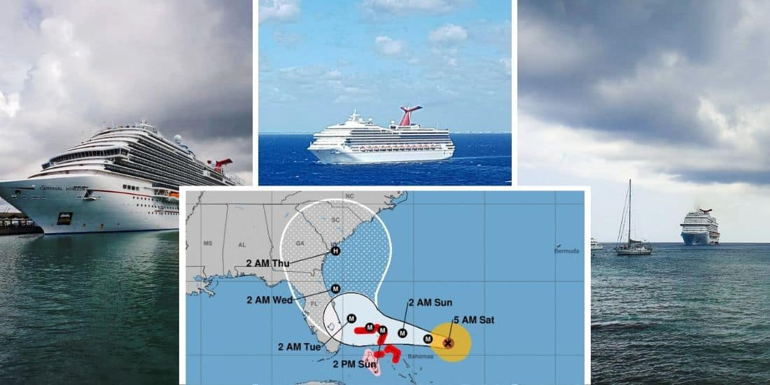 Carnival Cruise Ships Impacted by Hurricane Dorian