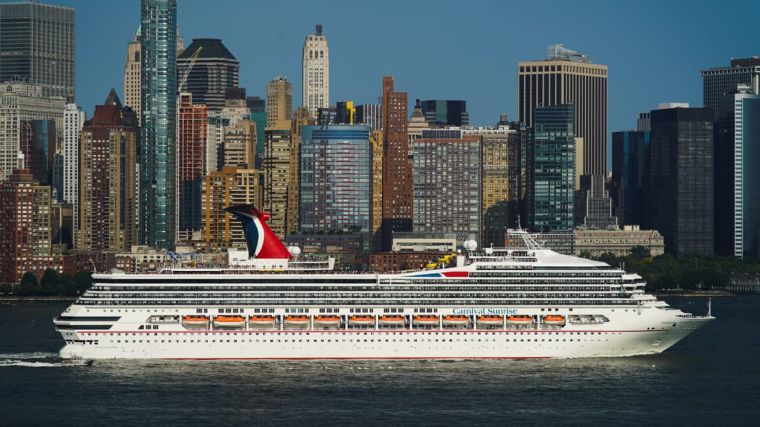 Carnival Sunrise in New York City