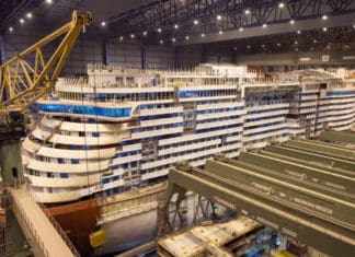 P&O Iona Under Construction