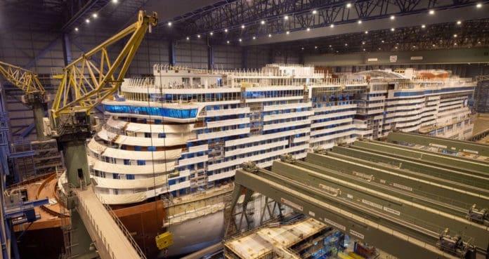 P&O Iona Under Construction