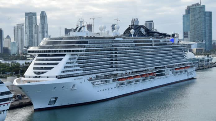 MSC Seaside Docked in Miami