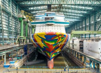 Norwegian Encore Under Construction