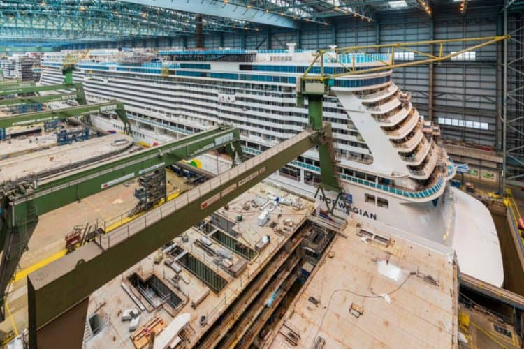 Norwegian Encore at Meyer Werft