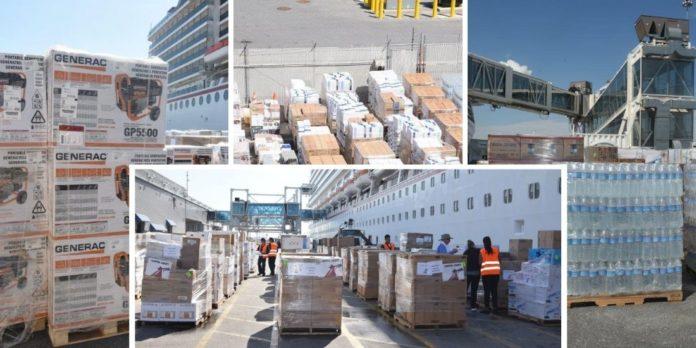 Carnival Cruise Ship Hurricane Relief Supplies