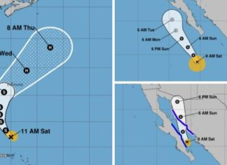 Tropical Storm Jerry, Mario and Hurricane Lorena