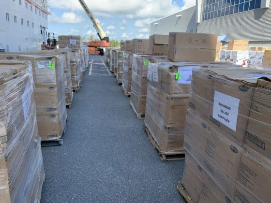 Carnival Cruise Ship Hurricane Relief Supplies