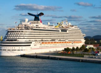 Carnival Cruise Ship, Freeport Bahamas