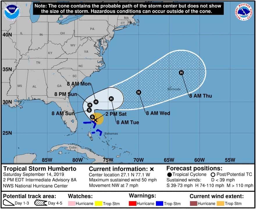 Tropical Storm Humberto (NOAA)