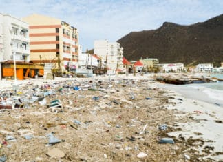 Philipsburg, St. Maarten after Hurricane