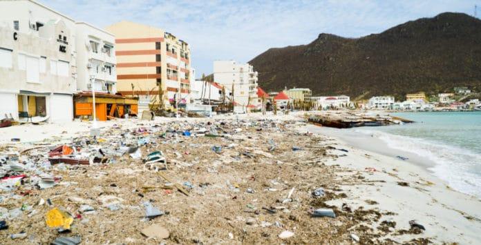 Philipsburg, St. Maarten after Hurricane