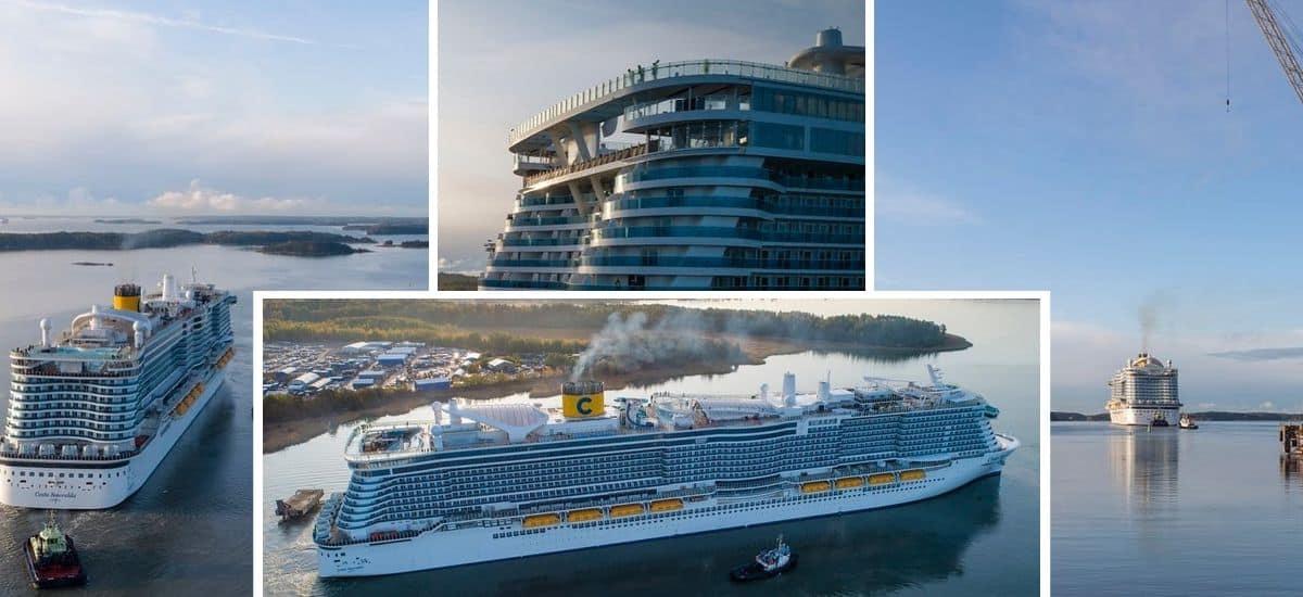 Costa Smeralda Departs for Sea Trials