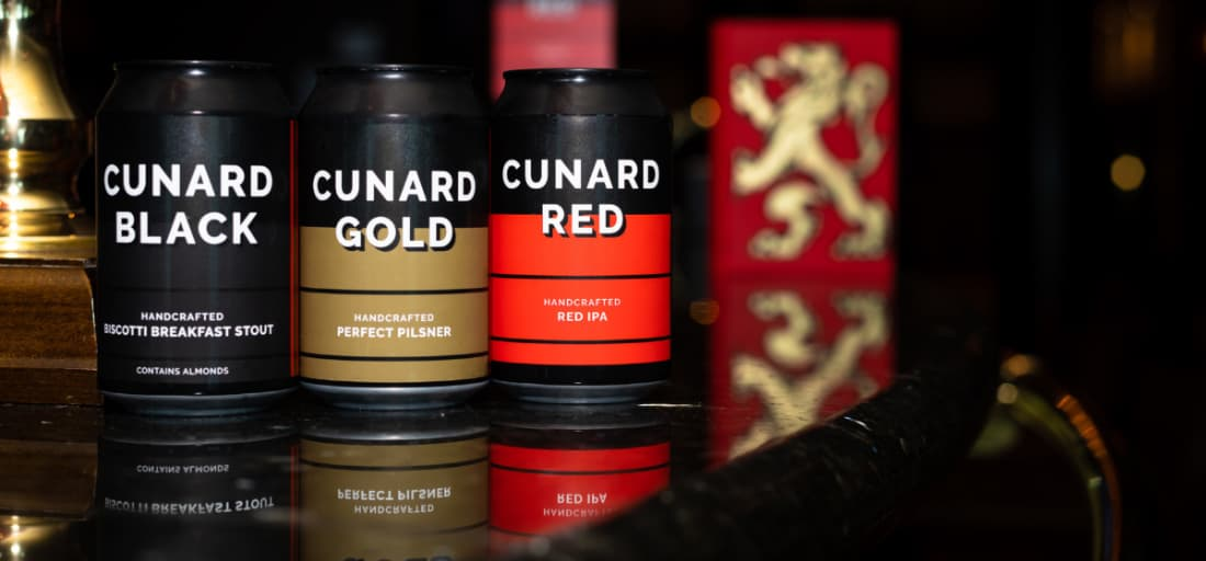 Cunard Line Craft Beers