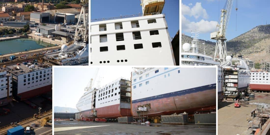 Cruise Ship Cut in Half