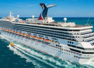 Carnival Conquest Cruise Ship at Sea