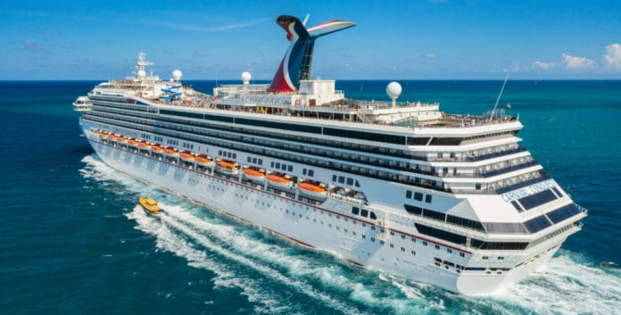 Carnival Conquest Cruise Ship at Sea