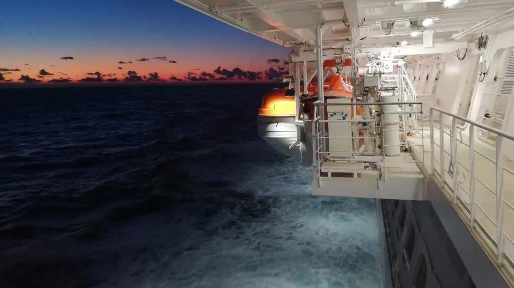 Side of Cruise Ship