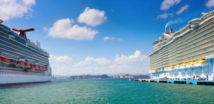 Carnival and Royal Caribbean Cruise Ships