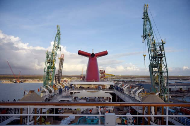 Carnival Ecstasy Dry Dock