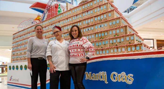Gingerbread Mardi Gras Cruise Ship