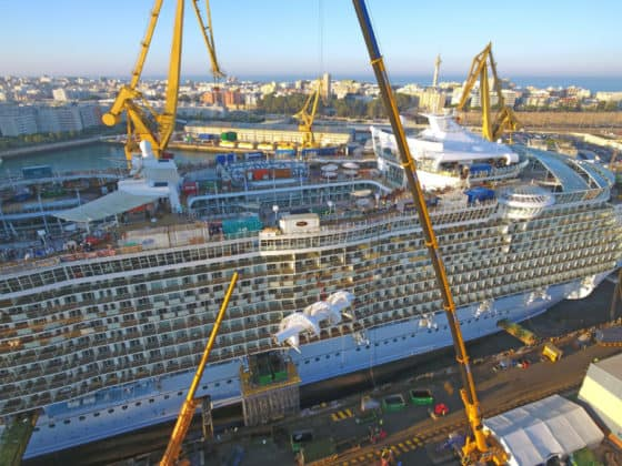 Oasis of the Seas Dry Dock